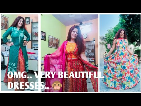 BEAUTIFUL DRESSES & MULTI USED IN  FASTIVAL FROM  REUSE SAREE 🥰🙊सीखे mere sath