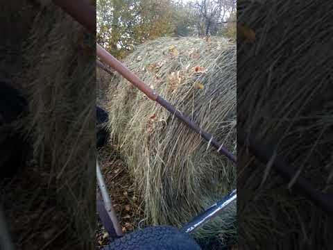 Прицеп для перевозки рулонов сена своими руками.