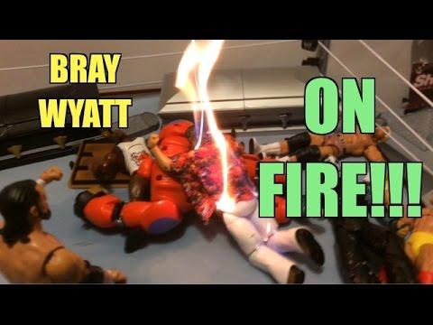 GTS WRESTLING: Flaming Extreme WWE Figure Matches Animation! Mattel Elites PPV Event!