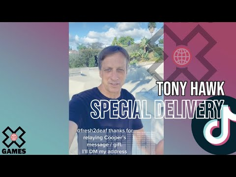 Tony Hawk Special Delivery via FedEx Driver | World of X Games