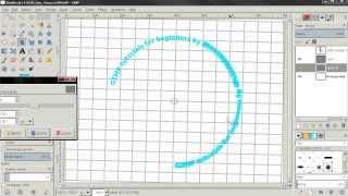 Text Along Path - GIMP 2.8 Tutorial For Beginners