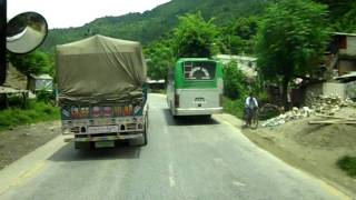 preview picture of video 'Bus passing in Prithivi Highway'