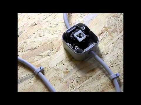 ( TEIL 1 ) ELEKTRO INSTALLATION FEUCHTRAUM 2X LICHTSCHALTER WECHSELSCHALTER 1X LAMPE