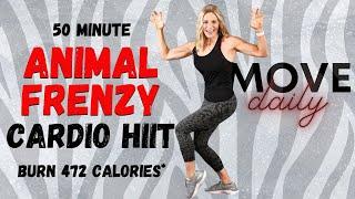 50 Minute ANIMAL FRENZY Cardio Hiit   Sweaty Cardio Hiit Workout   Burn 472 Calories*🔥