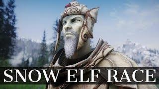Skyrim Snow Elf Race Mod - The Ancient Falmer