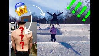 I GOT MY SPINE TATTOOED / Ski Day #2 | Vlog 17