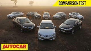 8 Car Showdown | Mid-Size Sedan Comparison Test | Autocar India