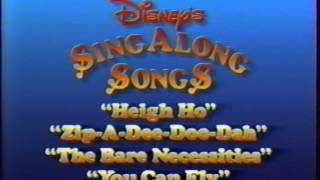 Closing to Disney's Sing-Along Songs: You Can Fly 1990 VHS