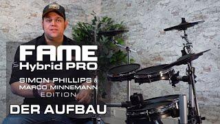 Lukas baut das FAME HYBRID PRO E-Drum Set auf!!!
