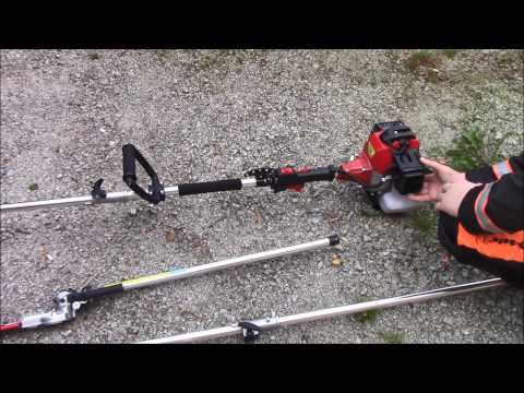4in1 – Brush Cutter – First Try! – (Hedge Trimmer, Strimmer, Brush Cutter, Chainsaw).