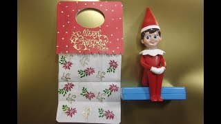 Making A Peg Stamp Decorated Gift Bag With Easy Bag Topper