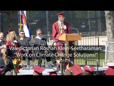 Climate Change speech by Valedictorian Roshan Klein-Seetharaman