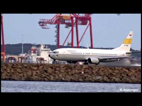 [Rare Takeoff] - Indonesian Air Force (TNI Angkatan Udara) Boeing 737-400(A-7306) Sydney Airport