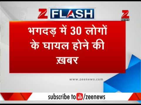 Mumbai: 30 injured at Elphinstone station stampede एलफिंस्टन स्टेशन पर भगदड़ से बड़ा हादसा
