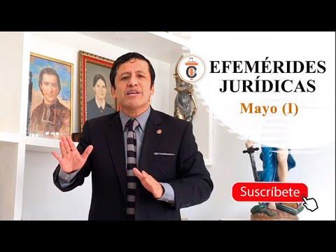 EFEMÉRIDES JURÍDICAS: Mayo (I) - Tribuna Constitucional 144 - Guido Aguila Grados