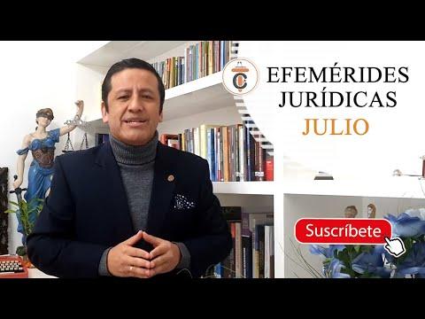 EFEMÉRIDES JURÍDICAS: JULIO - TC161