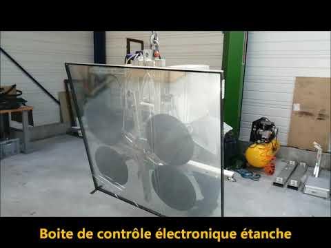 Palonnier à ventouses autonome pour la manutention verre - VB8 RCMBE  1200 Kg -  PALVAC -