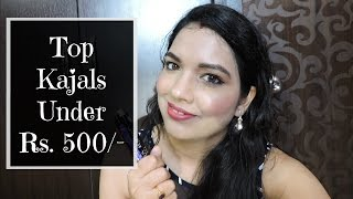 Image for video on Top Favorite Kajals in India under Rs. 500 /- | beautywithsneha by beautywithsneha