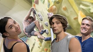 Nikken getting shutdown on Emils Competition boulder. by Eric Karlsson Bouldering