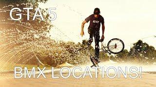 GTA 5: BMX SPAWN LOCATIONS / SKATE PARK LOCATIONS!