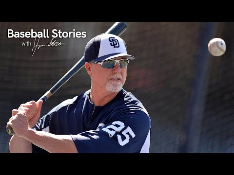 Mark McGwire's Rookie HR Record Completely Over the Head of a Padres Player | Stadium