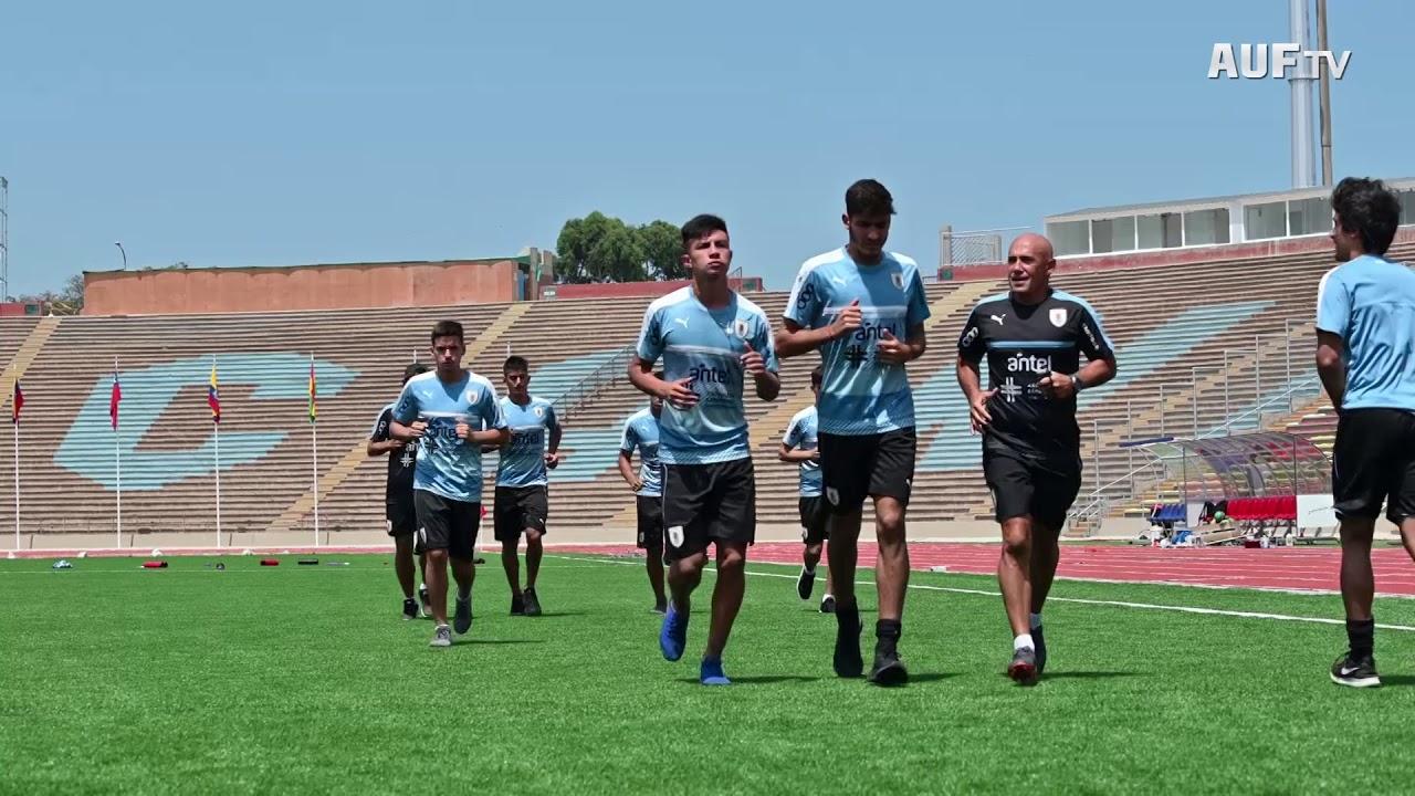 Entrenamientos en el estadio San Marcos de Lima