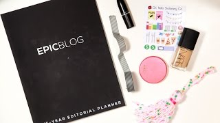 Epic Blog: One-Year Editorial Planner First Impressions