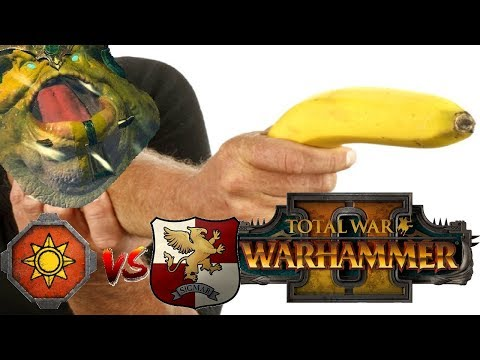 Lizardmen vs Empire | SALAMANDER & THE BANANA - Total War Warhammer 2