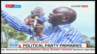 Hon. Oscar Sudi appreciates his supporters after he was handed the provisional certificate
