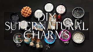 DIY Supernatural Charms | Bottle Caps/magnets/pins/& More!
