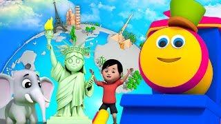 บ๊อบรถไฟ | รอบโลก | เพลงสำหรับเด็ก | Kids Song | Bob Around the World