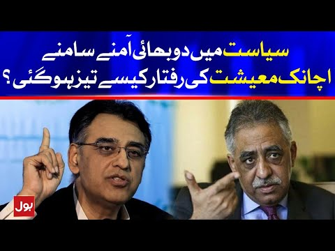 Asad Umar and Muhammad Zubair Twitter fight on Economy of Pakistan | BOL News