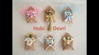DIY,Letter Wedding Favors,Gift From Burlap,Envelope Magnet,Zarf Nikah Şekeri Yapımı,Mektup Hediyelik
