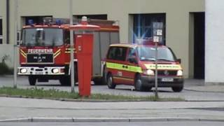 preview picture of video 'ELW + HLF + RTW BF München FW 5 Ramersdorf'