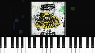 5 Seconds Of Summer - ''Fly Away'' - Piano Tutorial - Chords - How To Play - Cover