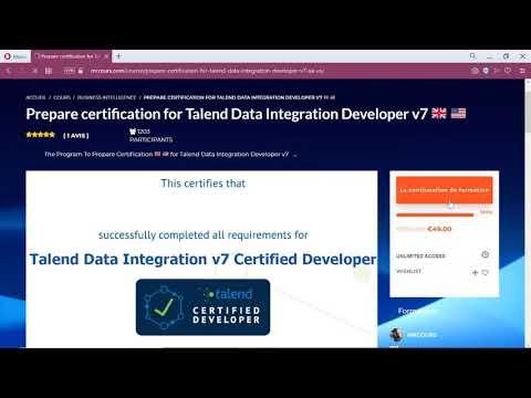 Prepare certification for Talend Data Integration Developer v7 ...