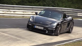 2019 Porsche 718 Boxster Spyder - Exhaust SOUNDS on the Nurburging!