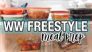 WW FREESTYLE MEAL PREP WITH ME || EASY SIMPLE MEAL PREP FOR WEIGHT LOSS || One Hour Meal Prep