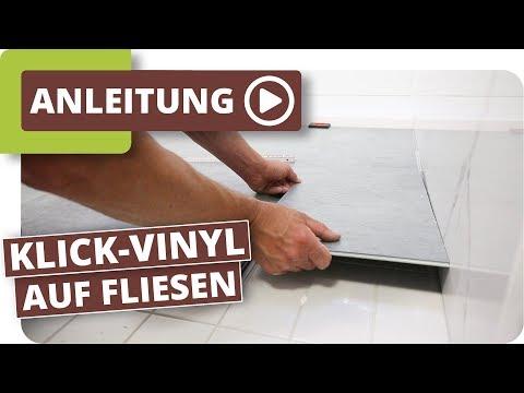 Klick Vinyl auf Fliesen - Boden im Bad schnell renovieren