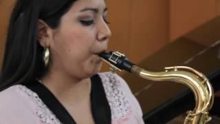 Saxofonista peruana Claudia Medina