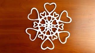 красивые снежинки своими руками из бумаги пошагово