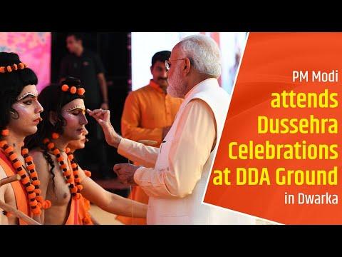 PM Modi attends Dussehra Celebrations at DDA Ground in Dwarka