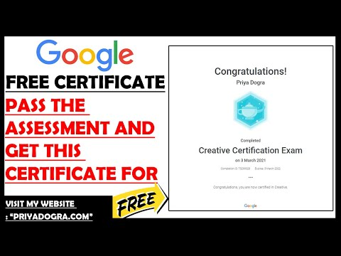 Google Free Certification Courses - YouTube