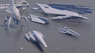Starships Size Comparison (Mass Effect)