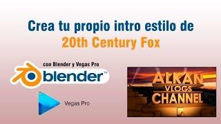 Tutorial: Crear Intro Estilo 20th Century Fox En 1080p Full HD   Blender   Sony Vegas Pro 111213