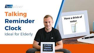 Talking Reminder Clock (Ideal For Elderly / Dementia / Autism | TechSilver.co.uk [2019]