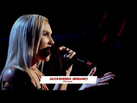 ✌ Alexandra Boghici - Flames ✌ AUDITIILE pe nevăzute   VOCEA României 2019 HD