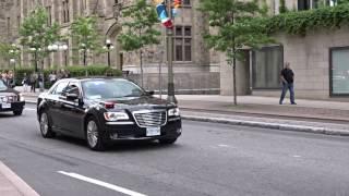 Italy Prime Minsiter Paolo Gentiloni Silveri Motorcade-Ottawa-2017
