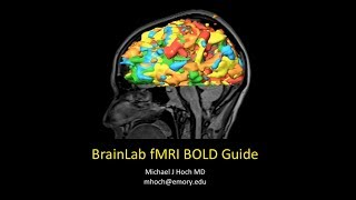 Functional MRI (fMRI) Brainlab Processing Guide