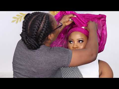 Detailed (Step by Step) Tutorial on How To Tie a Fan Style Gele